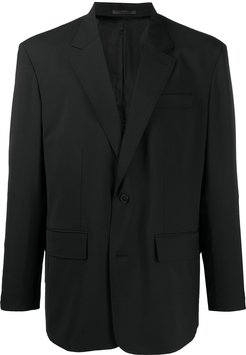 single-breasted tailored jacket - Black