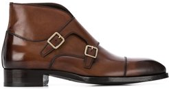 monk strap boots - Brown