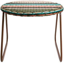 woven side table - Blue