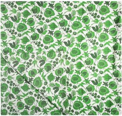 floral print table cloth - Green