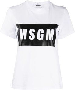 Box logo-print T-shirt - White