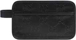 GG embossed cosmetic case - Black