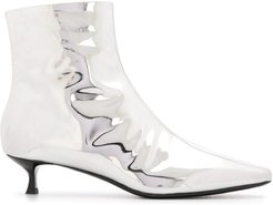 metallic ankle boots - Grey