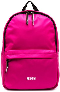 logo-print backpack - PINK
