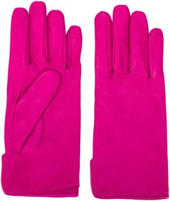 leather driving gloves - PINK
