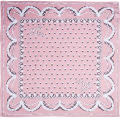 The Icing Square silk scarf - PINK