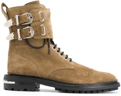 lace-up boots - Green