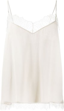 lace-embellished cami top - Neutrals