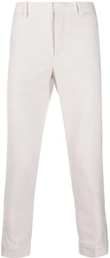 slim-fit cropped trousers - NEUTRALS
