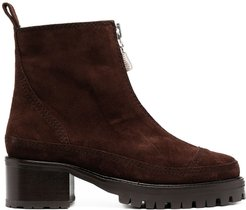 Chris zip-up ankle boots - Brown
