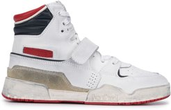 Alsee panelled high-top sneakers - White