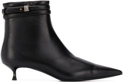low-heel ankle boots - Black