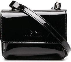 double crossbody bag - Black