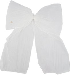 Wicole tulle bow hair clip - White