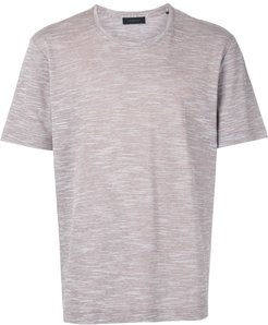 round neck lightweight T-shirt - Neutrals