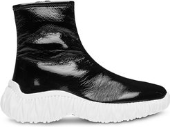 chunky sole high-top sneakers - Black