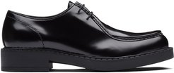 brushed leather paraboot shoes - Black