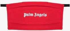 Red logo cotton face mask