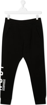 TEEN ICON print joggers - Black
