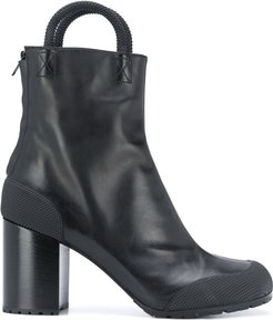 handle ankle boots - Black