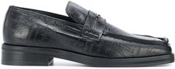 Roxy embossed penny loafers - Black
