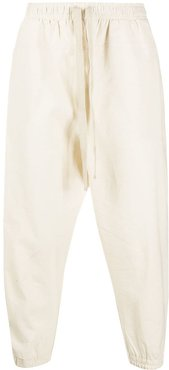 drawstring track trousers - Neutrals