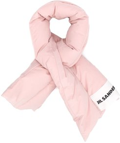 padded logo patch scarf - PINK