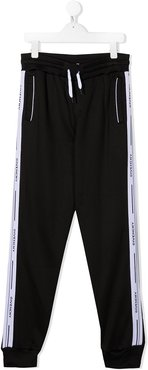 TEEN side logo track pants - Black
