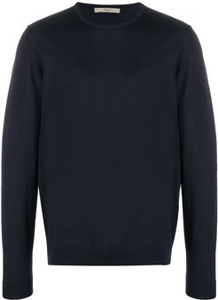 long-sleeve fitted jumper - Blue