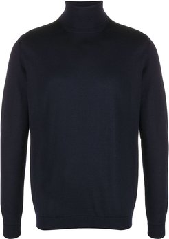 roll-neck fitted jumper - Blue