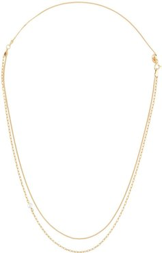 chain pearl necklace - GOLD