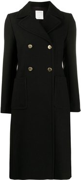 double-breasted tailored coat - Black