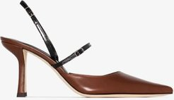 brown Tiffany 80 two tone leather pumps