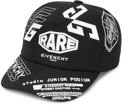 logo slogan cap - Black