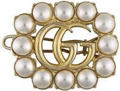 pearl double G hair slide - 8490 Undefined