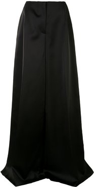 high-waisted palazzo trousers - Black