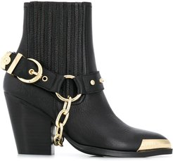 metal-tipped ankle boots - Black