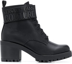 chunky heel ankle boots - Black
