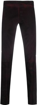 slim-fit trousers - Red