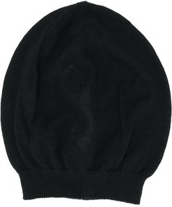 cashmere knitted beanie hat - Black