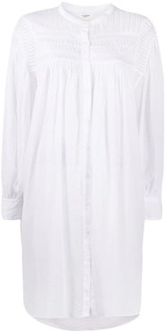 Plana oversized shirt dress - White