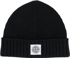 knitted hat - Black