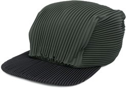 pleated cap - Green