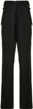 belted back trousers - Black