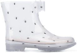 RED(V) point d'esprit tulle rain boots - Neutrals