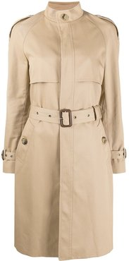 single-breasted trench coat - Neutrals