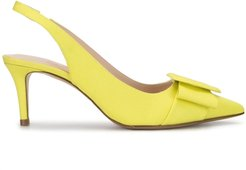 Heart-shaped buckle pumps - Yellow