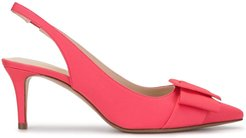 Heart-shaped buckle pumps - PINK