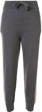 contrasting stripe track trousers - Grey