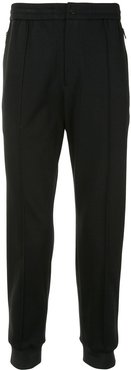 high-waisted track trousers - Black